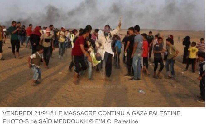 PALESTINE - Gaza - Vendredi 21/9/2018, PHOTO SAÏD MEDOUKH © E'M.C. Palestine