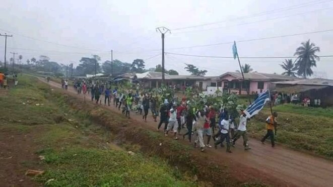 Manifestation de septembre 2017 à Bamenda (Cameroun anglophone)