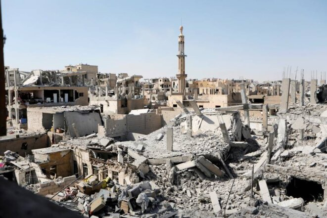 Ruins in the Syrian city of Raqqa, once a bastion of Islamic State. © Reuters