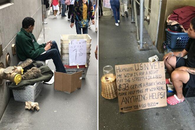 Mendiants dans les rues de New York [Photos YF]