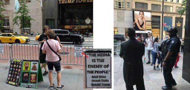 Jeudi 20 septembre, devant la Tour Trump de la 5ème avenue, NY [Photos YF]