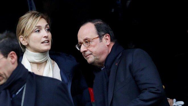 La actriz Julie Gayet y François Hollande. © Reuters
