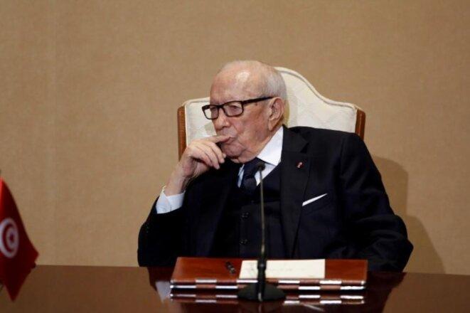 Le parti créé par Béji Caïd Essebsi a perdu près d'un million d'électeurs en quatre ans. © Reuters