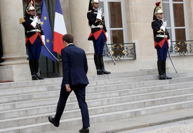 Emmanuel Macron à l'Élysée, le 20 juillet. © Reuters/Philippe Wojazer