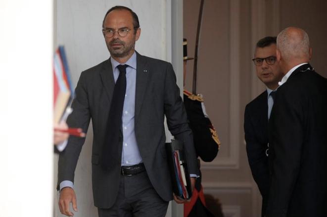 Édouard Philippe et Alexis Kohler à l'Élysée, le 31 août. © Reuters/Philippe Wojazer
