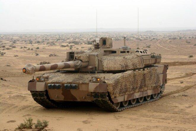 Un char Leclerc vendu aux Émirats arabes unis par la France. © Nexter