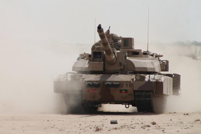 Un char Leclerc vendu par la France aux Émirats arabes unis. © DR