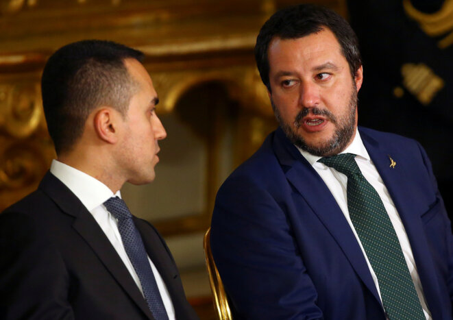 Luigi Di Maio (M5S) et Matteo Salvini (Ligue). © Reuters