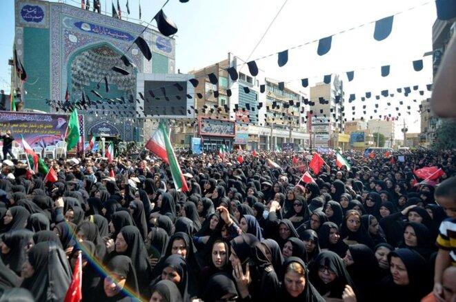 Les funérailles des victimes de l'attentat d'Ahvaz, le 24 septembre. © Reuters