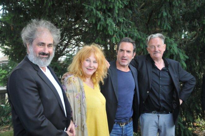 Gustave Kervern, Yolande Moreau, Jean Dujardin et Benoît Delépine au FFA en août 2018 © F.S.