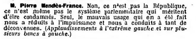 Journal officiel de la République française. Débats parlementaires. Assemblée nationale. Compte rendu in extenso de la séance du dimanche 1er juin 1958.