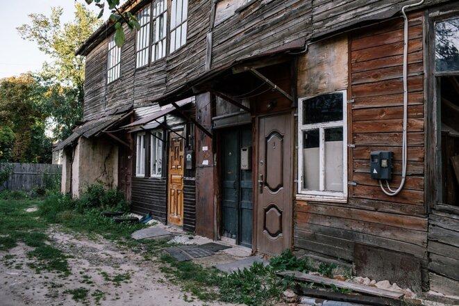 Dans une rue de Hloukhiv. © Niels Ackermann / Lundi13