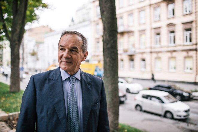 Michel Terestchenko, maire de Hloukhiv, à Kiev le 24 septembre 2017. © Niels Ackermann / Lundi13