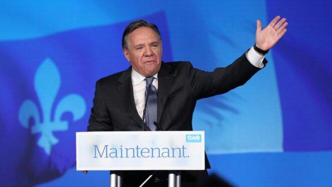 François Legault, le soir de sa victoire. © Reuters/Chris Wattie
