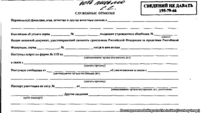 Demande de passeport de Petrov © Belligcat