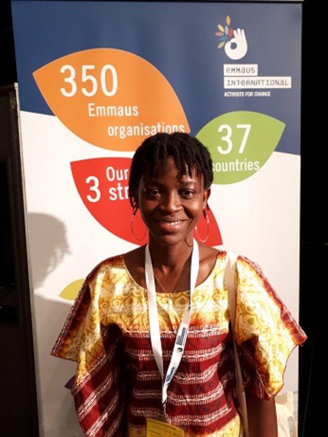 Yvonne Toba du Mouvement NoVox en Côte d'Ivoire Crédits: Emmaüs International