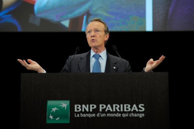 Michel Pébereau, président de BNP Paribas en 2011 © Reuters