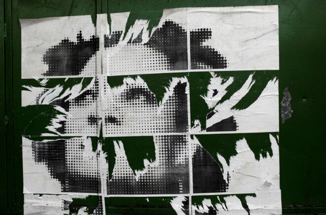 Une affiche en souvenir de Marielle Franco, abattue en mars 2018, dans les rues de Rio en mai dernier © Reuters / Ricardo Moraes.