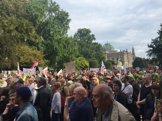 Rassemblement anti-GCO-Strasbourg-06/10/18 © Pascal Maillard