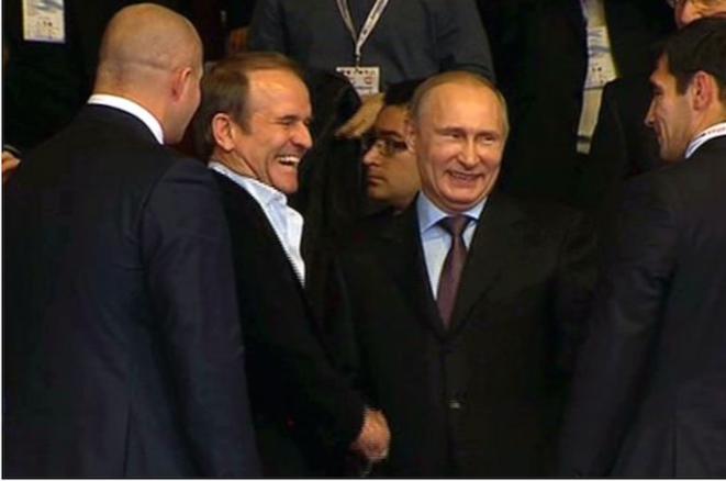 Medvetchuk et Poutine © Chechenews
