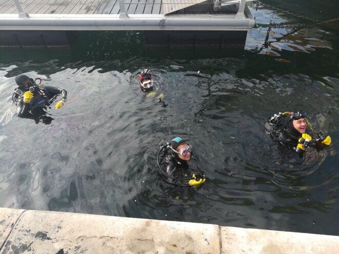Plongeurs - Nettoyage du Vieux Port 2018 © Ph L