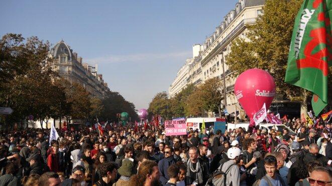 Manifestation à Paris le 9 octobre 2018. © Dan Israel