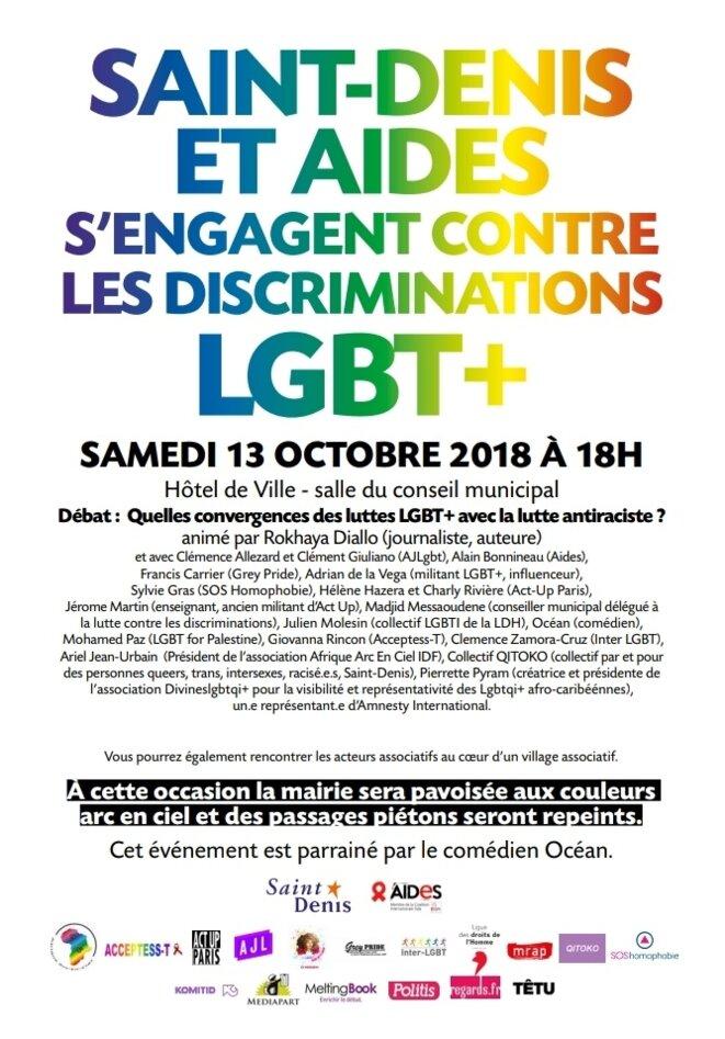 Affiche du 13 octobre contre les LGBTPhobies