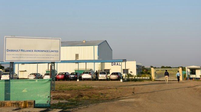 Le seul bâtiment actuellement constuit sur le site de la future « usine » de Nagpur. © Monica Chaturvedi