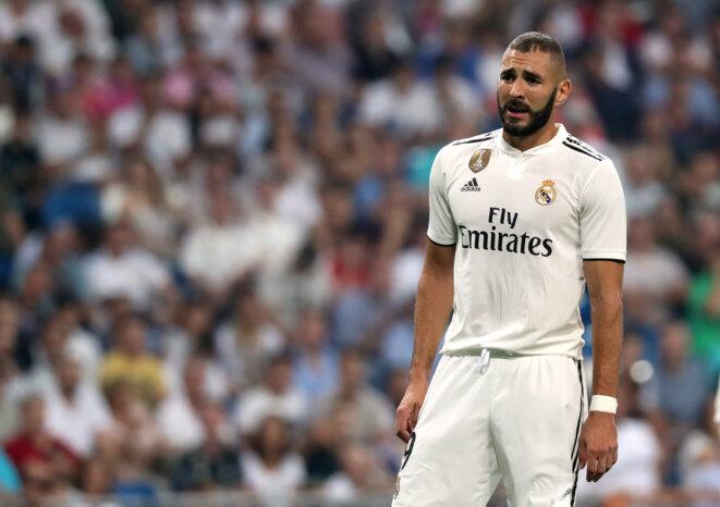 Karim Benzema sur le terrain du Real Madrid, le 22 septembre dernier. © REUTERS/Susana Vera