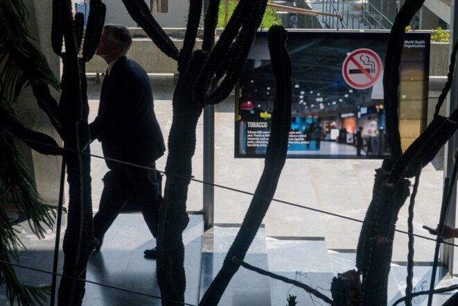 Au siège de l'OMS, à Genève. © Alberto Campi (We Report)