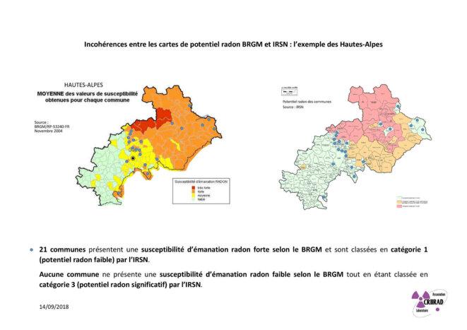 Radon dans les Hautes-Alpes © CRIIRAD