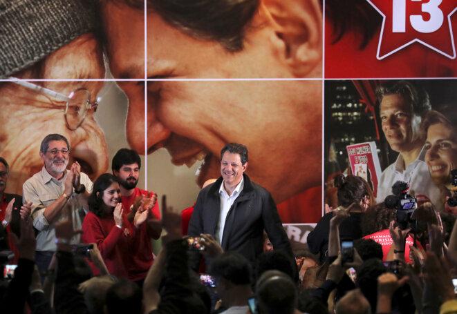 Le candidat du Parti des travailleurs, le 7 octobre 2018. © Reuters
