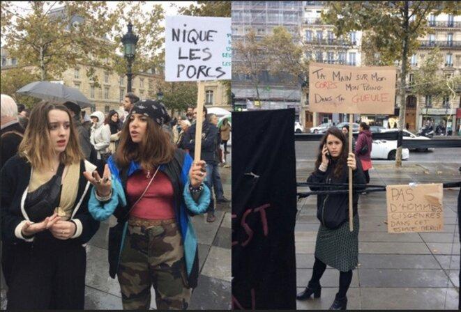 Paris, manifestation, le 29 octobre 2017. © JC