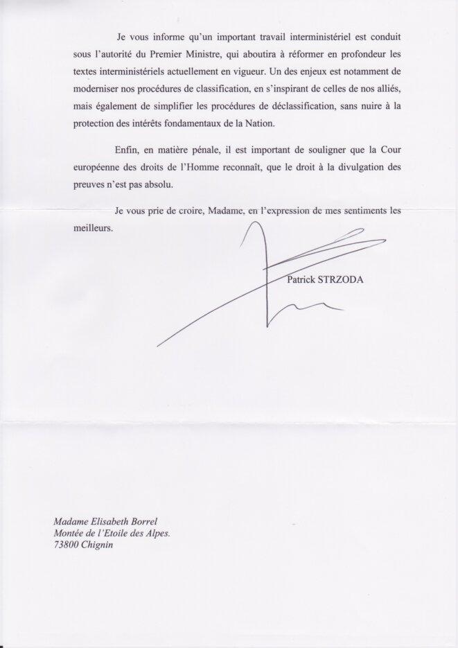 Lettre du Chef de Cabinet d'Emmanuel Macron (2)