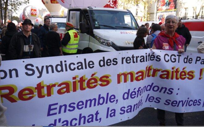 Dans la manifestation parisienne du 9 octobre 2018. © D.I.