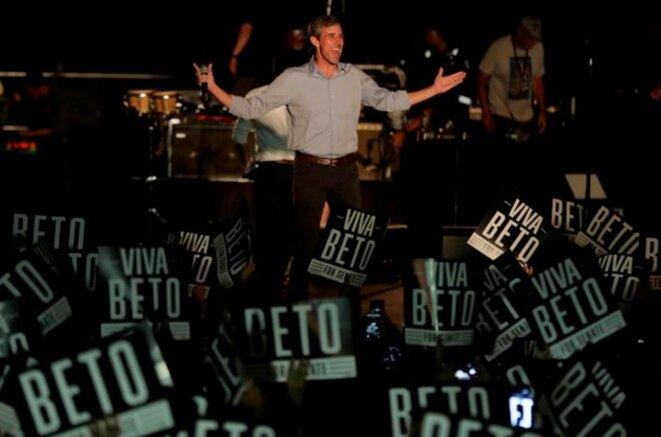 Beto O'Rourke, lors d'un meeting géant à Austin, Texas, le 29 septembre 2018. © Reuters