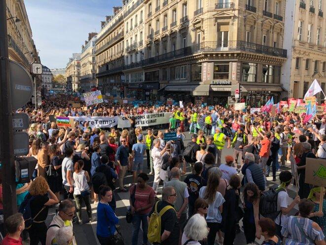 À Paris, lors de la marche pour le climat. © CG
