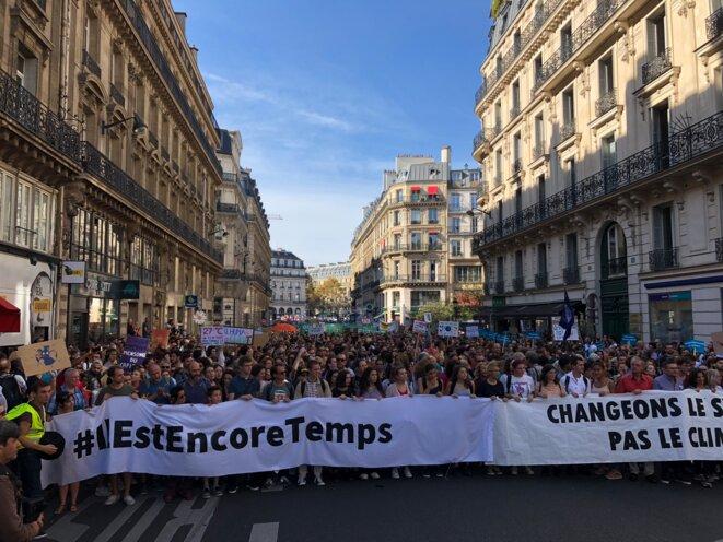 À Paris, lors de la marche pour le climat du 13 octobre 2018. © CG