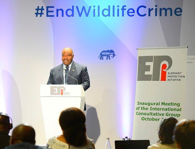 Londres, Conférence sur le commerce illicite d'espèces sauvages- Réunion présidée par le  Président Ali Bongo Ondimba
