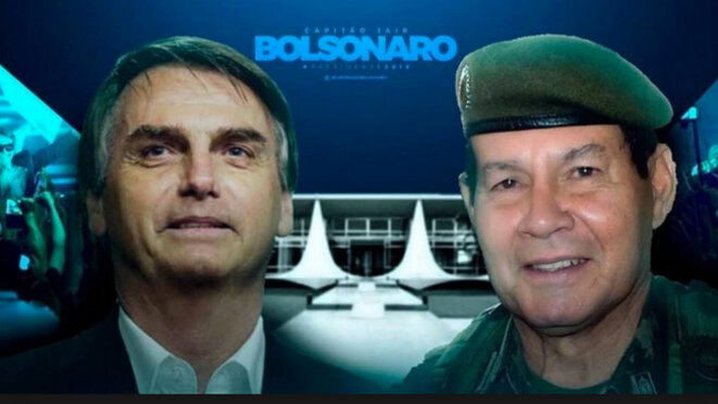Jair Bolsonaro et Hamilton Mourão © A l'encontre