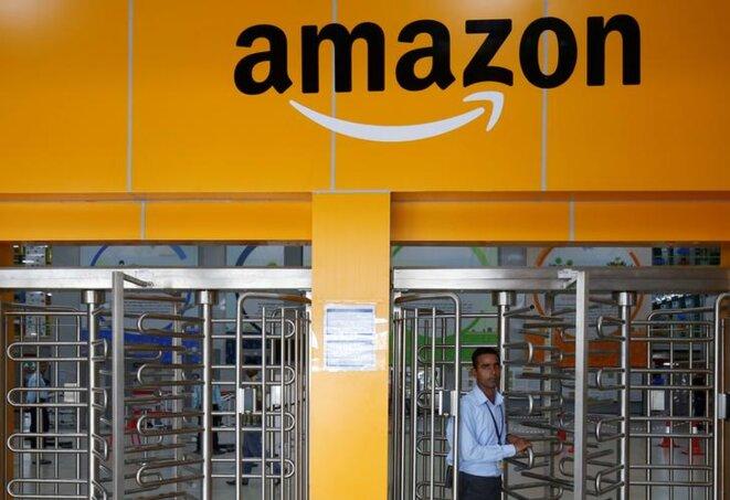 Un centre d'approvisionnement Amazon à Bangalore (Inde). © Reuters