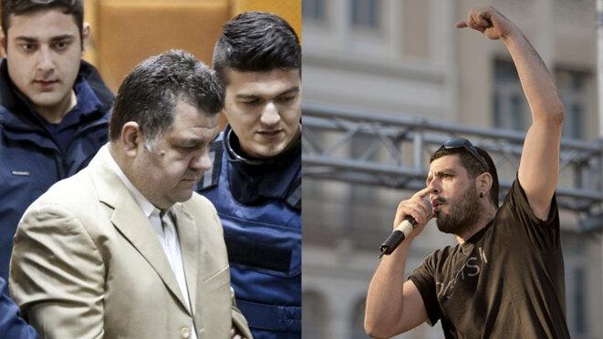 Le 18 septembre 2013, Giorgos Roupakias, militant néonazi d'Aube dorée, a assassiné le rappeur antifasciste Pavlos Fyssas dans les rues d'Athènes. © Reuters/John D. Carnessiotis