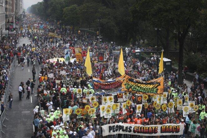 Marche pour le climat - septembre 2014 - New-York