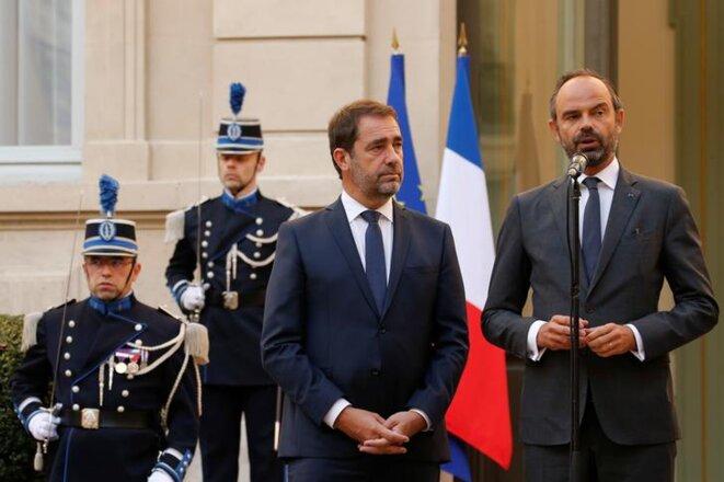 Christophe Castaner et Édouard Philippe. © Reuters
