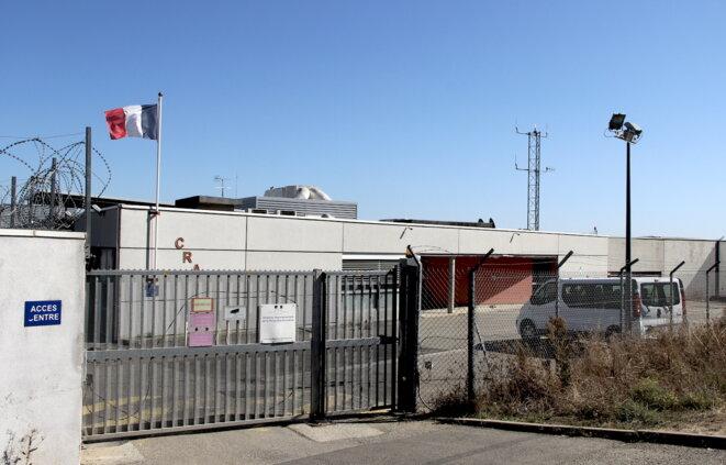 L'entrée du centre de rétention administrative de Toulouse-Cornebarrieu (Haute-Garonne). © Emmanuel Riondé
