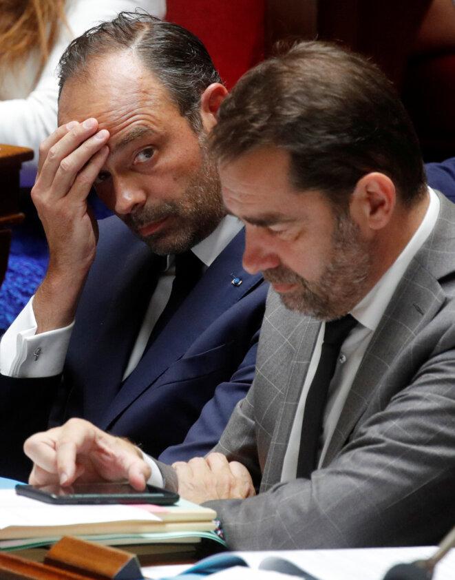 Édouard Philippe et Christophe Castaner. © Reuters