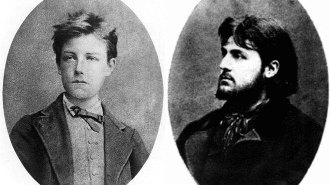 Arthur Rimbaud et Germain Nouveau.