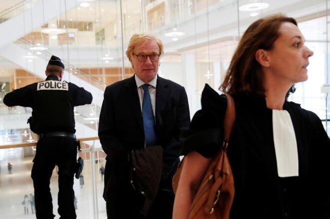 L'ancien directeur général d'UBS France, Patrick de Fayet, au tribunal de Paris le 11 octobre. © Reuters