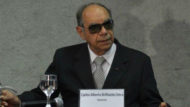 Le colonel Ustra, l'un des rares tortionnaires à avoir été condamné en 2008. © DR