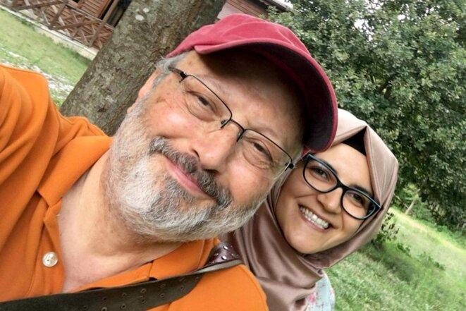 Jamal Khashoggi avec sa fiancée, quelques jours avant sa disparition.
